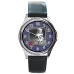 Blue Funky Watch - Round Metal Watch