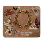 Christmas gold angel remember when large mousepad