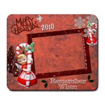 Christmas candy cane angels remember when large mousepad