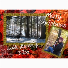 Final Christmas Card 2010 By Billy   5  X 7  Photo Cards   Expnlo51ronv   Www Artscow Com 7 x5 Photo Card - 45