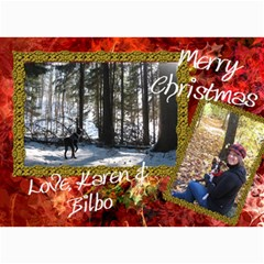 Final Christmas Card 2010 By Billy   5  X 7  Photo Cards   Expnlo51ronv   Www Artscow Com 7 x5 Photo Card - 64