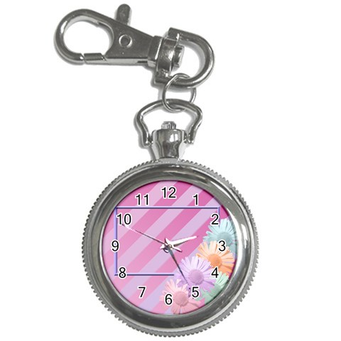 Flowers Keychain Watch By Add In Goodness And Kindness   Key Chain Watch   4rkyap0otcou   Www Artscow Com Front