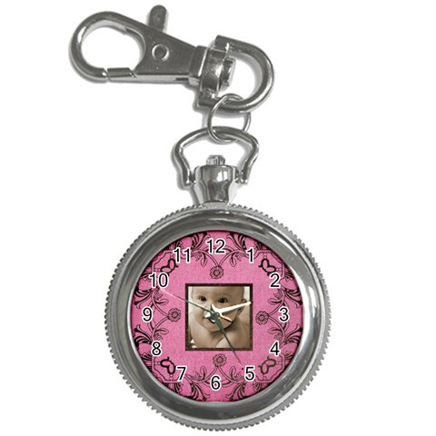 Art Nouveau Pink Keychain Watch By Catvinnat   Key Chain Watch   6vkxuk0vti2v   Www Artscow Com Front