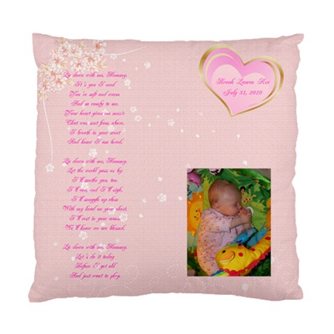 Mommy Pillow By Paula Brady   Standard Cushion Case (one Side)   Ebz02bnvi7qp   Www Artscow Com Front