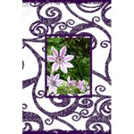 Fantasia Funky Purple notebook - 5.5  x 8.5  Notebook
