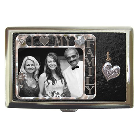 I Love My Family Cigarette/money Case By Lil    Cigarette Money Case   Vp9c62josmf6   Www Artscow Com Front