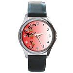 Strawberry - watch - Round Metal Watch