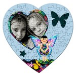 Fairy tales BLUE - Puzzle - Jigsaw Puzzle (Heart)