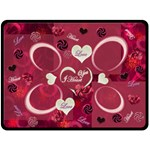 I Heart You Pink smaller frames fleese blanket - Fleece Blanket (Large)