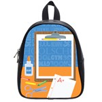 I Love School Small Backpack - School Bag (Small)