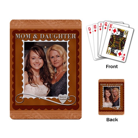 Mom & Daughter Playing Cards By Lil    Playing Cards Single Design   Ahkb73rdscy5   Www Artscow Com Back