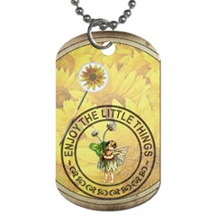 Enjoy The Little Things 2 Sided Dog Tag By Lil    Dog Tag (two Sides)   I434cxnut6jk   Www Artscow Com Back