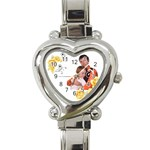 flower - Heart Italian Charm Watch