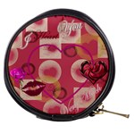 I Heart you med pink with lips - Mini Makeup Bag