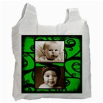 Fantasia Bonny baby green double sided recycle bag - Recycle Bag (Two Side)