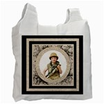 Fantasia classic round  frame  double sided recycle bag - Recycle Bag (Two Side)