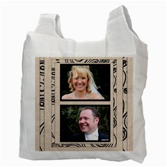 Fantasia Bride & Groom Wedding Double Side Recycle Bag By Catvinnat   Recycle Bag (two Side)   7wmzc1ia4n73   Www Artscow Com Back