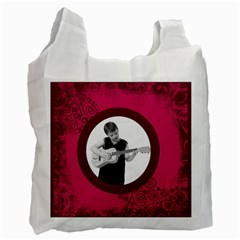 Fantasia Pnk Swirls Guitar Man Recycle Bag 2 Sides By Catvinnat   Recycle Bag (two Side)   U4czb98bshr9   Www Artscow Com Front
