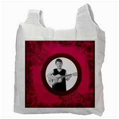 Fantasia Pnk Swirls Guitar Man Recycle Bag 2 Sides By Catvinnat   Recycle Bag (two Side)   U4czb98bshr9   Www Artscow Com Back