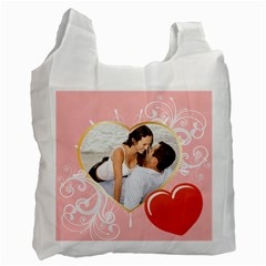Love By Wood Johnson   Recycle Bag (two Side)   Sdyv1na6huli   Www Artscow Com Front