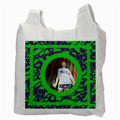 Fantasia Funky Purple And Green Recycle Bag By Catvinnat   Recycle Bag (two Side)   Nshk7mvminrd   Www Artscow Com Back