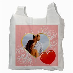 Love By Wood Johnson   Recycle Bag (two Side)   D2bvv4h6h79g   Www Artscow Com Back