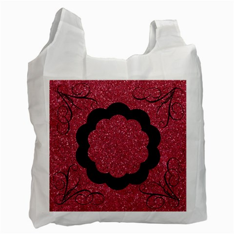 Shiny Red Swirls Recycle Bag By Jen   Recycle Bag (one Side)   Zdpqip8226oj   Www Artscow Com Front