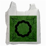 Green Swirls Recycle Bag - Recycle Bag (One Side)