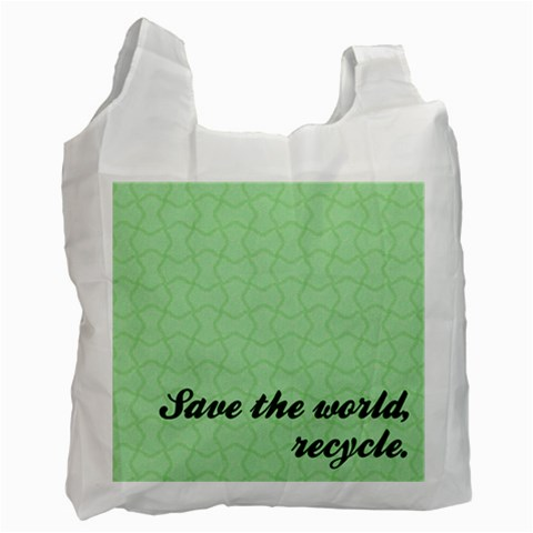 Recycle    Bag By Carmensita   Recycle Bag (one Side)   5kbnzlczisvh   Www Artscow Com Front