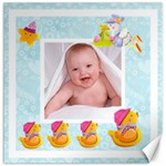 Blanky Bunny Ducks in a row nursery canvas 20 x 20 - Canvas 20  x 20