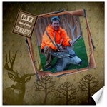 me & my trophy 20x20 canvas template - Canvas 20  x 20