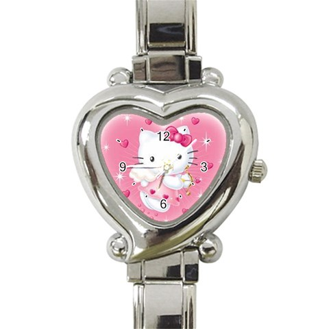 Hello Kitty Heart Watch By Helen Hsin Nakamoto   Heart Italian Charm Watch   4enoqni0z0go   Www Artscow Com Front