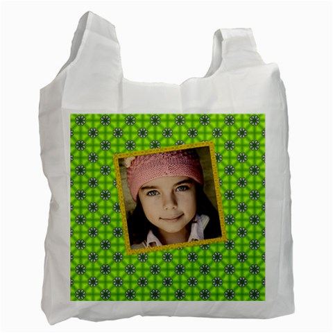 Jorge s Green Bag By Jorge   Recycle Bag (one Side)   Co9rgpype2qk   Www Artscow Com Front