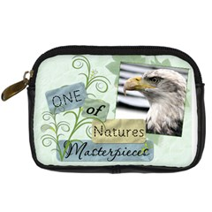 Natures Masterpieces Leather Camera Case By Lil    Digital Camera Leather Case   W38pgpjgksc4   Www Artscow Com Front
