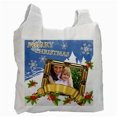 Xmas By Joely   Recycle Bag (two Side)   Vh4v19tsn4y2   Www Artscow Com Front