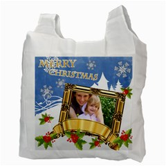 Xmas By Joely   Recycle Bag (two Side)   Vh4v19tsn4y2   Www Artscow Com Back