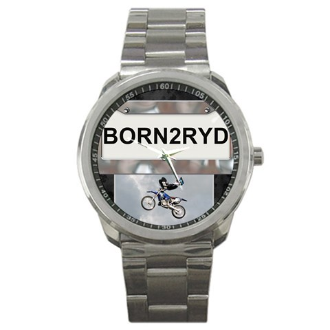 Born To Ride Sport Metal Watch By Lil    Sport Metal Watch   Yvez7equcjxr   Www Artscow Com Front