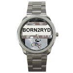 Born To Ride Sport Metal Watch