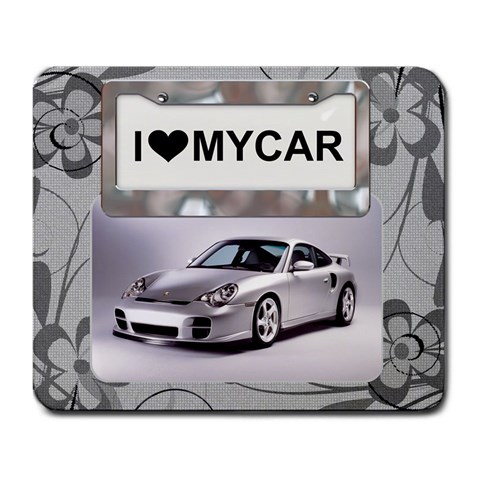 I Love My Car Large Mousepad By Lil    Large Mousepad   Lz9n40d02dtz   Www Artscow Com Front