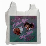 I heart you pink aqua swirl29 baby recycle bag - Recycle Bag (One Side)