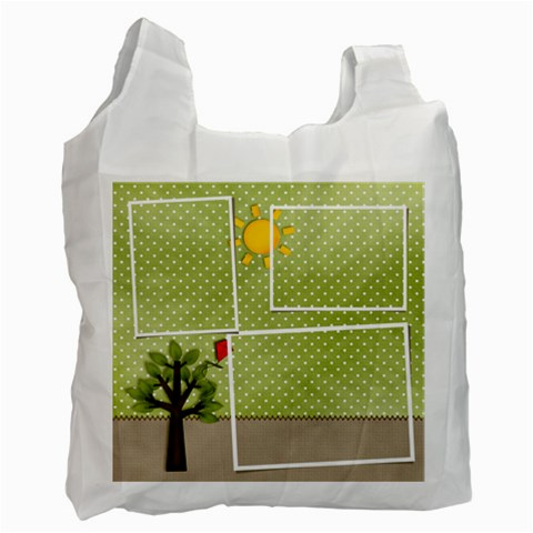Recycle Bag (one Side )template Summer1 By Jennyl   Recycle Bag (one Side)   R0ntrjryg376   Www Artscow Com Front
