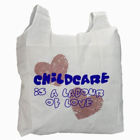 Childcare By Patricia W   Recycle Bag (one Side)   Sjo66b0fwvt5   Www Artscow Com Front