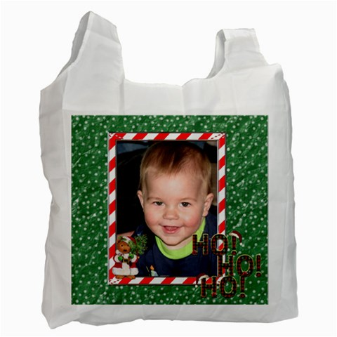 Ho Ho Ho Christmas Recycle Bag By Lil    Recycle Bag (one Side)   Wm0uit06jgur   Www Artscow Com Front
