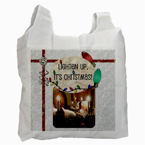 Lighten Up, It s Christmas! Recycle Bag By Lil    Recycle Bag (one Side)   Oyg9nfqq0cuf   Www Artscow Com Front