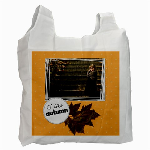 I Like Autumn   Bag By Carmensita   Recycle Bag (one Side)   Hdqjfw4ykuhd   Www Artscow Com Front