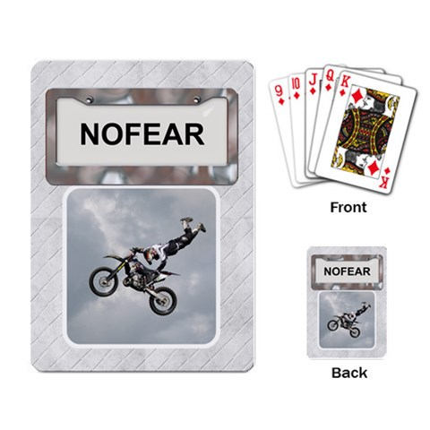 No Fear Playing Cards By Lil    Playing Cards Single Design   R5wrlet93puk   Www Artscow Com Back