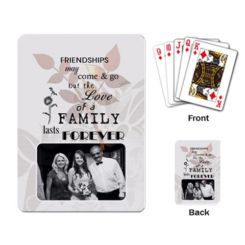 Family Playing Cards By Lil    Playing Cards Single Design   Hz4gjov8cjrz   Www Artscow Com Back