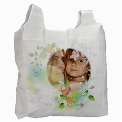 Flower Kids By Wood Johnson   Recycle Bag (two Side)   Nw4o3d2gx22p   Www Artscow Com Front