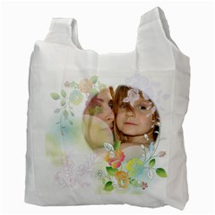 Flower Kids By Wood Johnson   Recycle Bag (two Side)   Nw4o3d2gx22p   Www Artscow Com Back