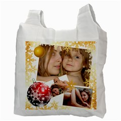 Xmas By Wood Johnson   Recycle Bag (two Side)   V91dcx7qz28h   Www Artscow Com Back